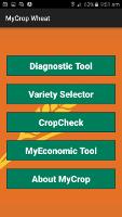 MyCrop Wheat App - Home Screen
